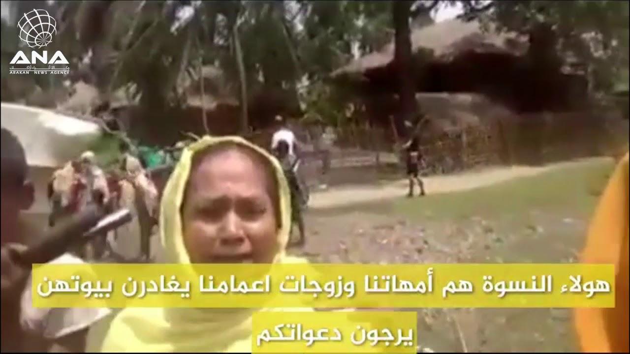 شاهد | نزوح جماعي للروهنغيا حاملين معهم أمتعتهم (مترجم إلى اللغة العربية )