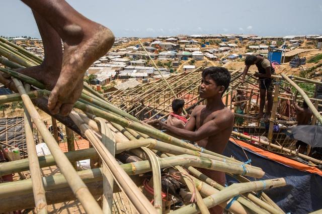 الحياة اليومية في مخيم للاجئين الروهنغيا في بنغلادش