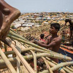 الرياح الموسمية في بنغلادش تقتل لاجئا من الروهنغيا وتشرد الآلاف