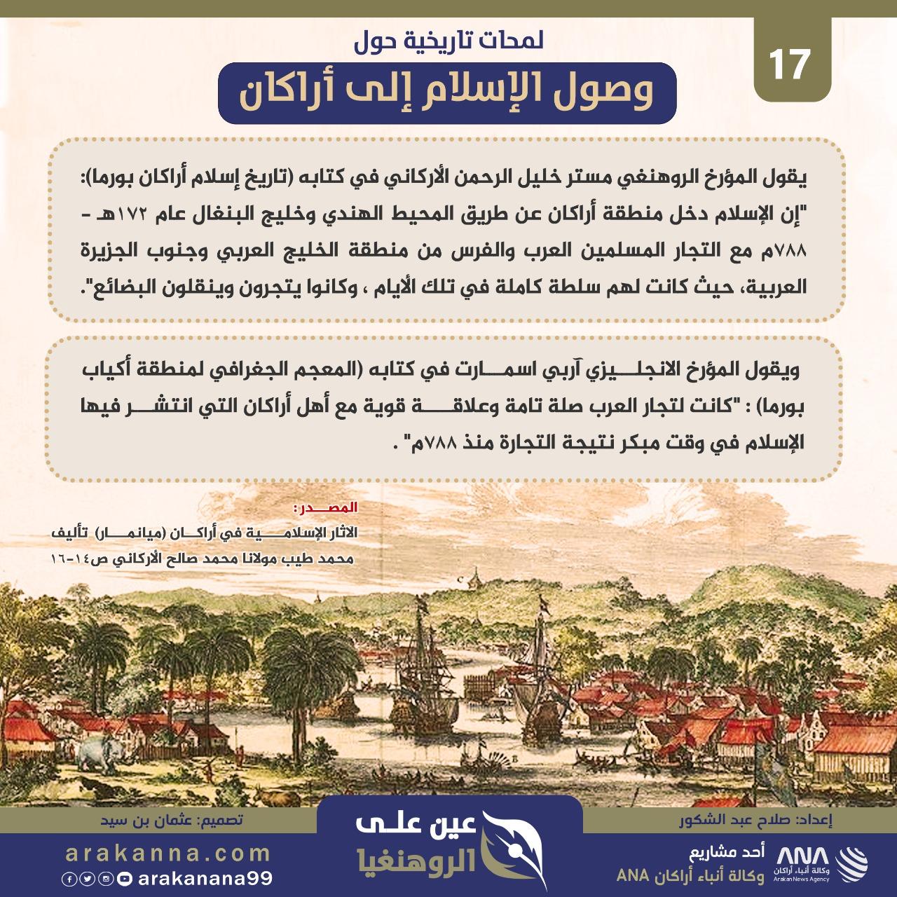 عين على الروهنغيا 17 | لمحات تاريخية حول وصول الإسلام إلى أراكان