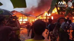 حريق في أراكان يخلف أضرارا مادية وبشرية